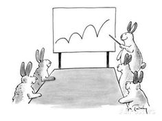 size: Premium Giclee Print: Rabbit at a meeting showing a chart with a bouncing line. - New Yorker Cartoon by Mike Twohy : Entertainment New Yorker Cartoons, Spring Landscape, Vincent Van Gogh, Find Art, Framed Artwork, Comic Art, Giclee Print, Original Art, Canvas