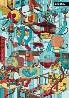 The Create Machine by Joe Mills, via Behance