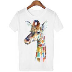 Women's Kawaii T-Shirt - Giraffe - MURIKAMADE