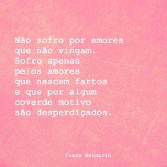 Clara Baccarin #amores #poema #frase