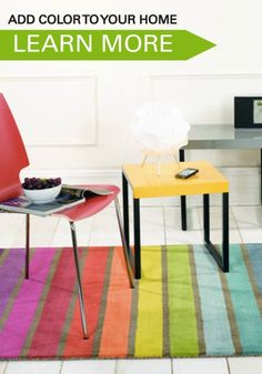 Use this great guide and home decor inspiration to add bright colours to your flat this spring. Brighten up your home for a fresh feeling.