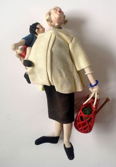 SOLD  ROLDAN KLUMPE Doll Vintage Spain -  Pregnant Woman and Child - Has tag!! (rare) #PregnantWomanwithChild