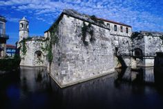 Colonial Habana, the stone walls of the Castillo Real de la Fuerza