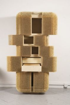Magistral Cabinet by Sebastian Errazuriz - made with bamboo skewers, how cool is that?