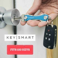Get rid of your bulky key ring! Fits up to 100 of your existing keys and accessories like bottle openers, usb drives, and more! #minimalist