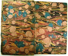 """*Marbled Italian endpapers*  """"In books, though, marbling usually is seen to best effect when it is used to create endpapers..."""""""
