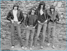 A vintage picture of the Ramones wearing Levi's 505 denim jeans.