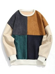 SHARE & Get it FREE | Suede Color Block Crew Neck SweatshirtFor Fashion Lovers only:80,000+ Items • New Arrivals Daily • FREE SHIPPING Affordable Casual to Chic for Every Occasion Join Zaful: Get YOUR $50 NOW!