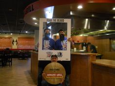 Genghis Grill Fears The Beard! Tickets are on sale sale now for the Oklahoma City Thunder NBA preseason game 10/24. — with Juan Osornio.