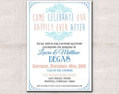 Chalkboard DIY Reception Only Invitation Template Receptions