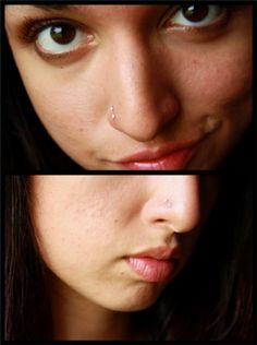 Double nose piercing.. I want mine back :\