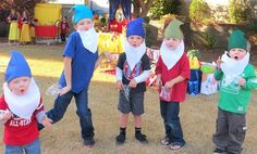 Dwarf hats and beards for Snow White party!