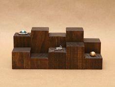 Bague affichage Riser / Mini contremarche en bois / par USAVECO