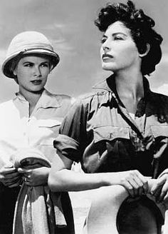 "Grace Kelly and Ava Gardner in ""Mogambo,"" 1953"
