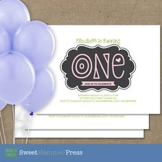 Guess who's One Baby's First Birthday Party by SweetHammerPress