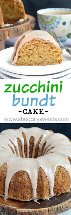 Super moist and delicious, this Zucchini Bundt Cake with a decadent Cinnamon glaze is a fantastic dessert! Such a great way to use up some of that fresh zucchini in your garden!