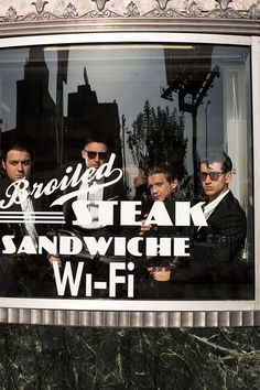 Arctic Monkeys… really random and the window spelled sandwich wrong