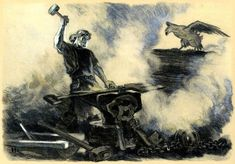Canis Albus Kalevala illustrations by Nicolai Kochergin Russian Mythology, Russian Folk Art, Ink Illustrations, Gods And Goddesses, Illustrators, Fairy Tales, Art Photography, Fantasy, Artwork