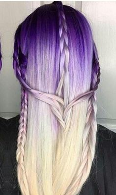 Purple ombre dyed hair @bw_artistry