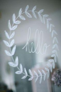 Kreidestift Fenster bemalen - - - Paint the chalk pencil o Mirror Writing, Window Writing, Window Markers, Chalk Pencil, Pencil Painting, Grey Home Decor, Chalk Markers, Noel Christmas, Christmas Ideas