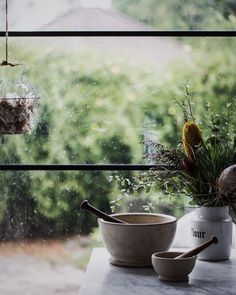 Favorite corner favorite things Friday evening! I heart everything here - the mood the gritty glass door (yes I am weird!) the rain drops the wire basket full of local fragrant garlic the marble table the vintage apothecary mortar and pestle sets foraged bush flora .. sigh  #cookrepublic #theartofslowliving #chasinglight #inmykitchen #vzcomood #florals #floral_perfection #vscoflowers #provenciallife #mortarandpestle #autumnseason #autumncolors #thatsdarling #thehappynow #simplejoys…
