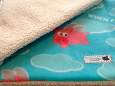 When pigs fly fabric! Handmade blankets for mini pigs.