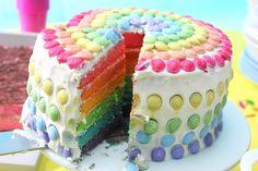Rainbow cake (gâteau arc-en-ciel)