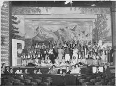 067044PD: 'Wildflower 1950' cast and orchestra on stage, 1950.  http://catalogue.slwa.wa.gov.au/search~S6?/dtheater/dtheater/1%2C1%2C1%2CB/frameset&FF=dtheater+western+australia+eastern+goldfields+photographs&1%2C1%2C/indexsort=-