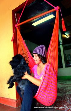 """Handmade by Artisan from Masaya, Nicaragua, these hammocks will sure look great in your backyard this spring or at the beach this summer. Made from 100% Cotton.        Meant for 1 Person  41"""" bar  weighs 6 lbs  weight limit 250lbs    (copy)    https://www.almanzahammocks.blogspot.com    ***(VIDEO HOW HAMMOCKS MADE)  http://www.youtube.com/watch?v=M96mxAAypfo=youtu.be"""