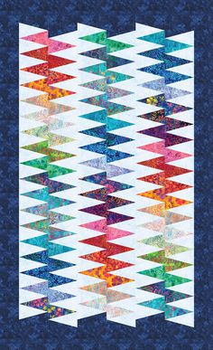 Spikey designed by Colourwerx. Features Artisan Batiks: Bright Blooms by Lunn Studios, shipping to stores September 2018. Fat quarter friendly. Pattern available for purchase (colourwerx.com) #artisanbatiks