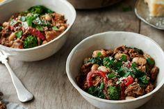 Crockpot Italian Chicken and Broccoli Rabe Chili