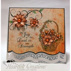 Heartfelt Creations - Joy Of The Lord Fleur Card Project