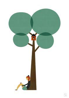 Bajo el árbol elle imprimir por blancucha en Etsy
