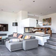modernes wohnzimmer mit offener küche | hausbau | pinterest | un ... - Moderne Wohnzimmer Bilder