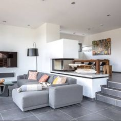 Wohnhaus 2 : Moderne Wohnzimmer von Kohlbecker Gesamtplan GmbH