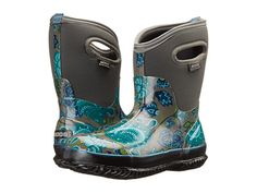 Bogs Classic Winter Blooms Mid Gray Multi - all around perfect gardening boot