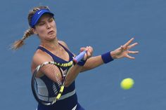 Eugenie Bouchard Photos: Dongfeng Motor Wuhan Open: Day 5. Eugenie Bouchard of Canada in action during her match against Alize Cornet of France on day five of the 2014 Dongfeng Motor Wuhan Open at Optics Valley International Tennis Center on September 25, 2014 in Wuhan, China.