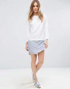 ASOS | ASOS 2 in 1 Stripe Shift Dress