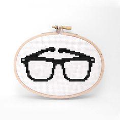 Fab.com | Nerd Glasses Cross Stitch Kit by Karla Altuna