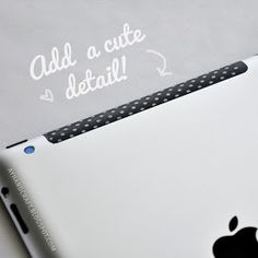 20 Creative Washi Tape Ideas - adding cute details to regular objects like your Macbook