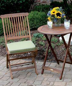 Outdoor Interiors Brown & Sage Three-Piece Outdoor Bistro Set | zulily