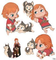 "Soonsang world studio,2016 Adventures of Kayla ""Kayla&Loto's infancy"" artstation http://www.artstation.com/artist/soonsanghong54  #soonsangworks #art #animation #visualdevelopment #characterdesign #illustration #digitalart #instarart #instadaily #conceptart #cartoon #comics #viking #cute #girl #puppy #baby"