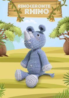 Bichinhos Amigurumi Receita PDF - Como Faço Safari, Dinosaur Stuffed Animal, Toys, Cute, Animals, Toddler Arts And Crafts, Crochet Hippo, Crochet Dinosaur, Crochet Horse