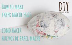 How to Make Paper Mache Eggs | Como hacer huevos de papel mache | Balloo...