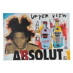 Mixed Media Painting, Mixed Media Art, Jean Michel Basquiat, Canvas Signs, Silk Screen Printing, Wall Art Decor, Pop Culture, Pop Art, Hand Painted