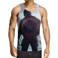 Captain America: 3D Printed Frigorific Captain America Tank Top