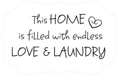 Laundry Room Vinyl Wall Decal Country Decor Words on Etsy, $10.05