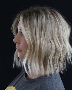 Cool Blonde Hair, Brown Blonde Hair, Cool Blonde Balayage, Blond Bob, Curled Hairstyles, Hairstyles Haircuts, Fringe Hairstyles, Bob Haircuts, Bridal Hairstyles