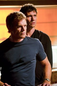 Michael C. Hall As Dexter, Christian Camargo as Brian