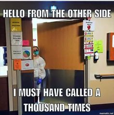 Hello from the other side..... #isolation #RN